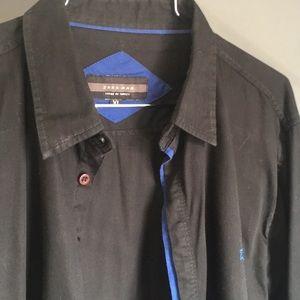 Zara -XL Black & Blue Shirt w/ Z Monogram